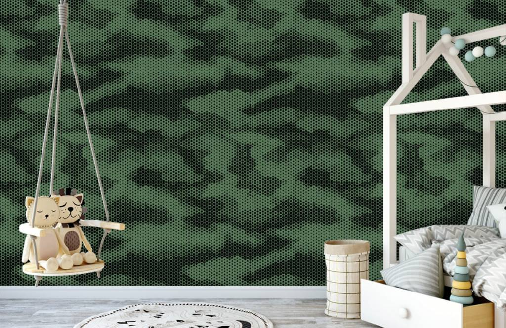 Overige - Groene camouflage print - Kinderkamer 4