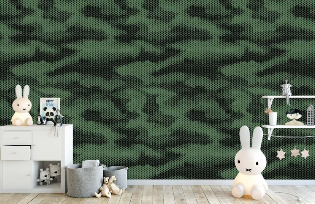 Overige - Groene camouflage print - Kinderkamer 5