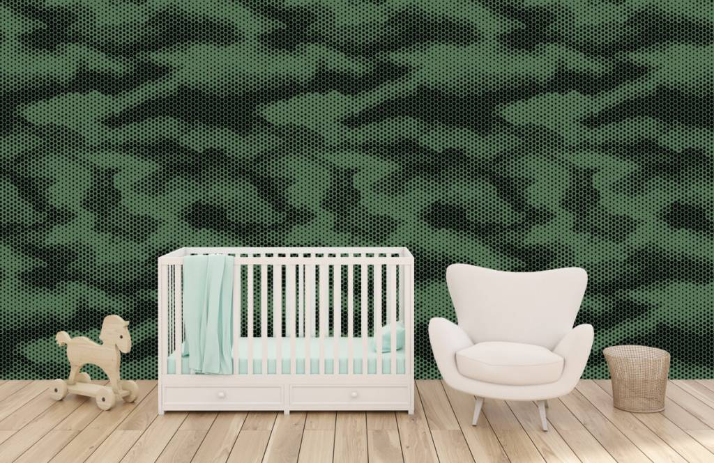 Overige - Groene camouflage print - Kinderkamer 6