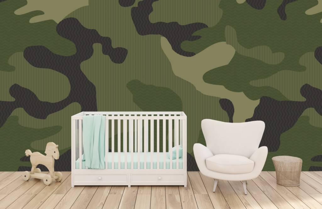 Kinderbehang - Groene camouflage - Kinderkamer 6