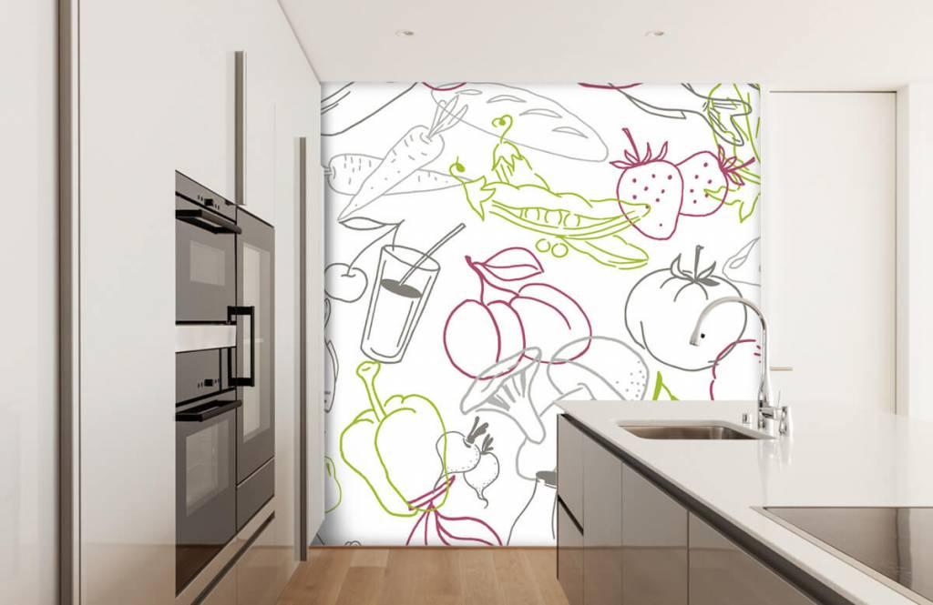 Overige - Groente en fruit iconen - Keuken 1