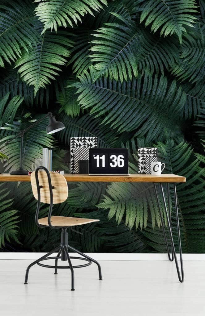 Bladeren - Grote palmbladeren - Woonkamer 1
