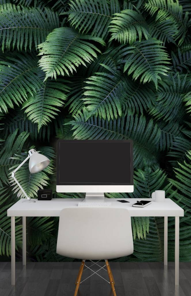 Bladeren - Grote palmbladeren - Woonkamer 2