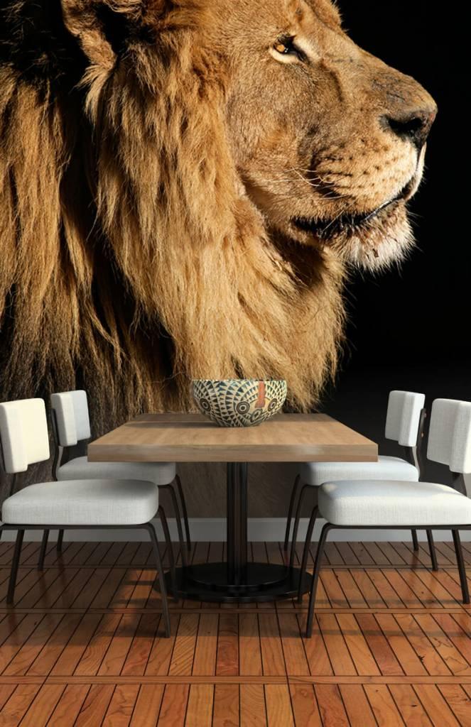 Roofdieren - Side profile van een leeuw - Tienerkamer 1