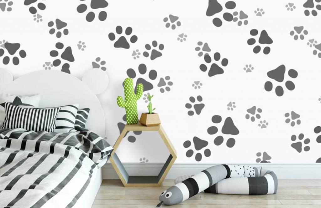 Kinderbehang - Hondenpoten - Kinderkamer 3
