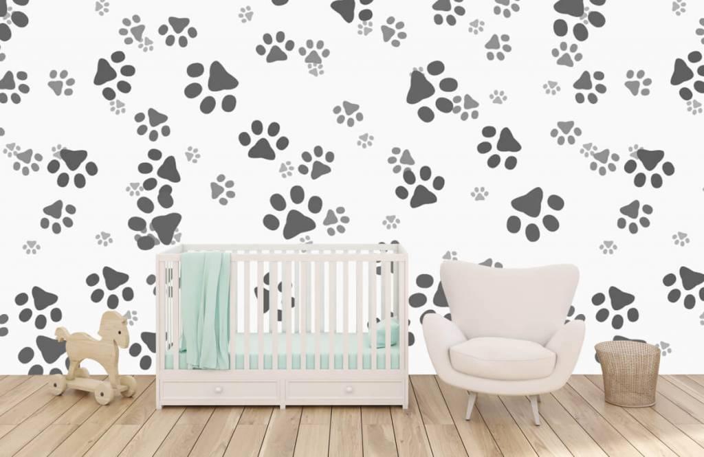 Kinderbehang - Hondenpoten - Kinderkamer 5