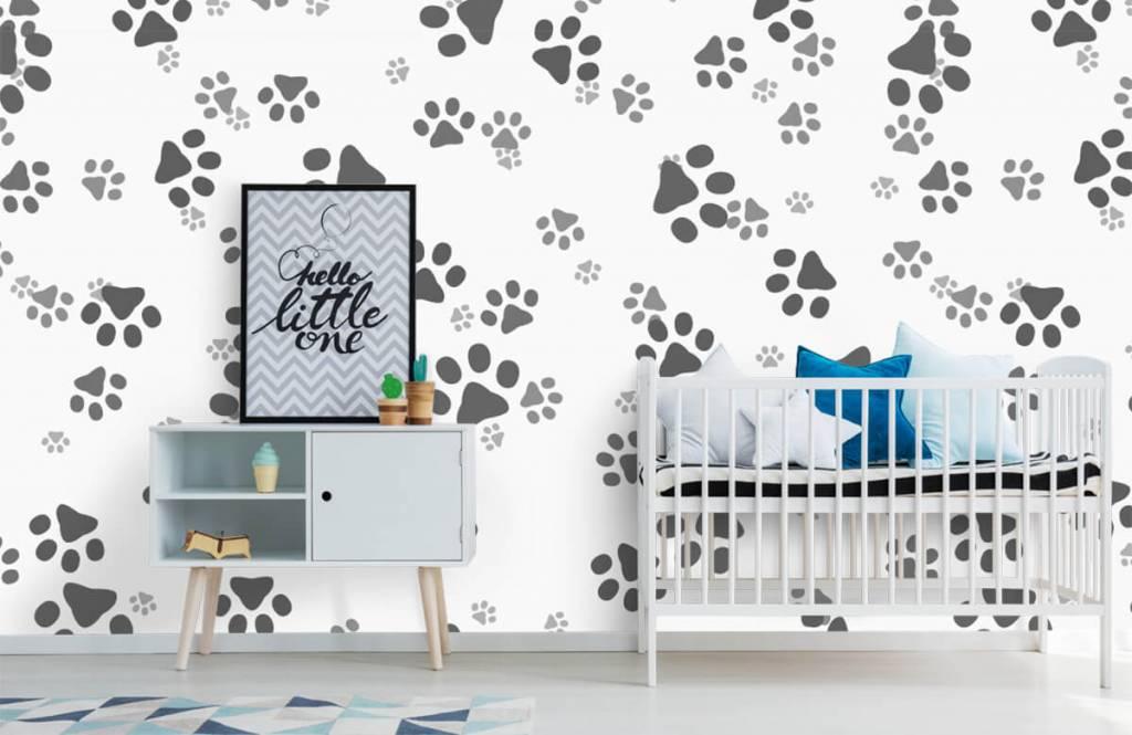 Kinderbehang - Hondenpoten - Kinderkamer 6