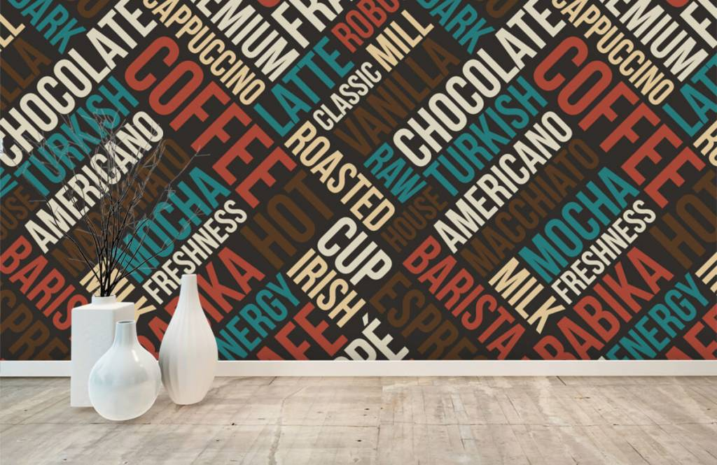 Overige - Koffie en chocolade tekst - Keuken 6