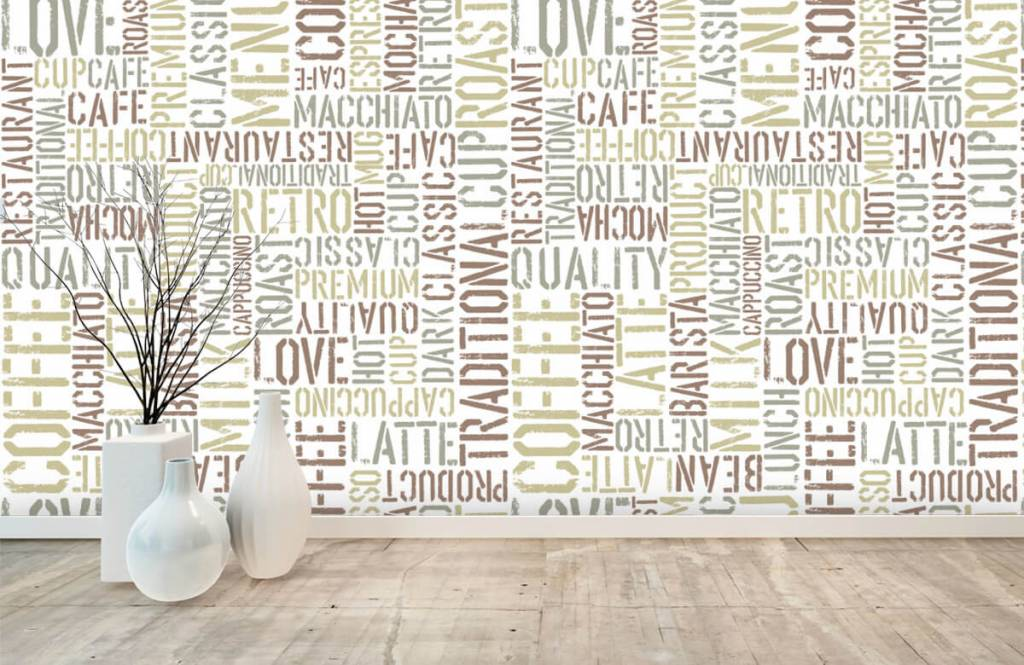 Tekst behang - Koffie teksten - Keuken 7