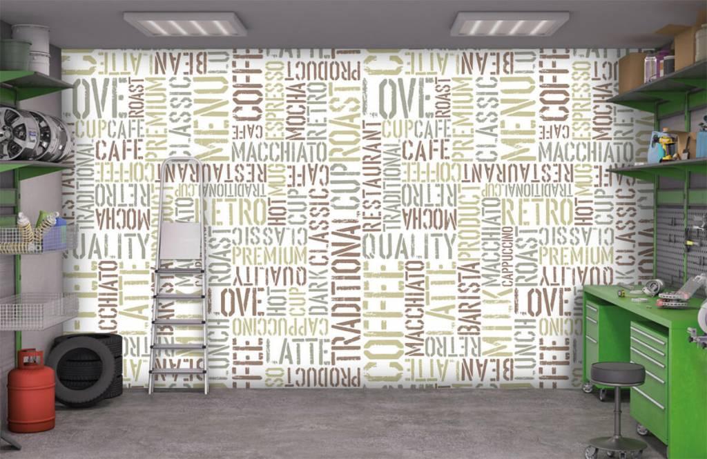 Tekst behang - Koffie teksten - Keuken 9