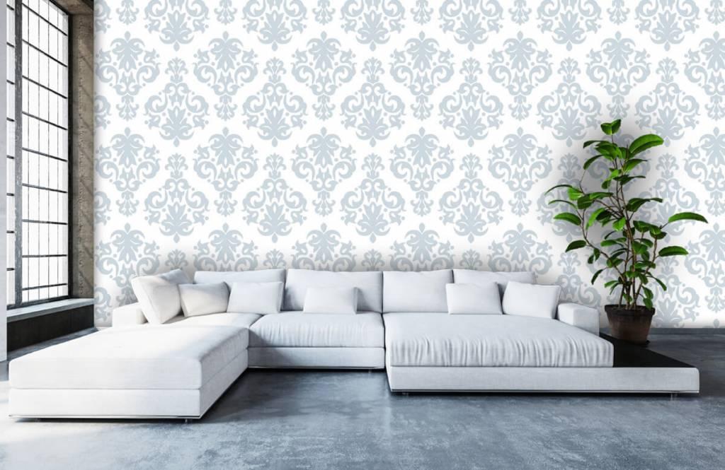 Barok behang - Lichtblauw barok - Slaapkamer 5