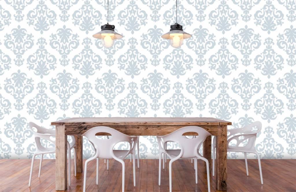 Barok behang - Lichtblauw barok - Slaapkamer 6