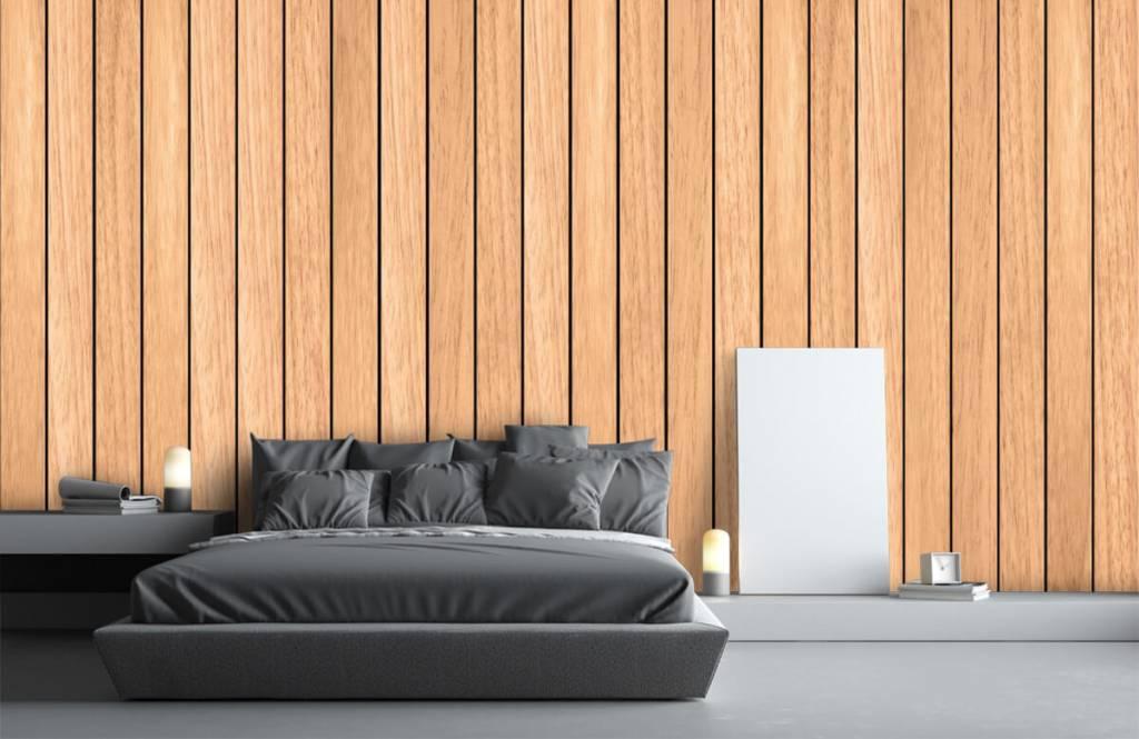 Betere Behang met lichte verticale houten planken - Fotobehang HJ-83