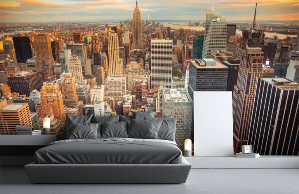 Steden behang - Manhattan - Tienerkamer 1