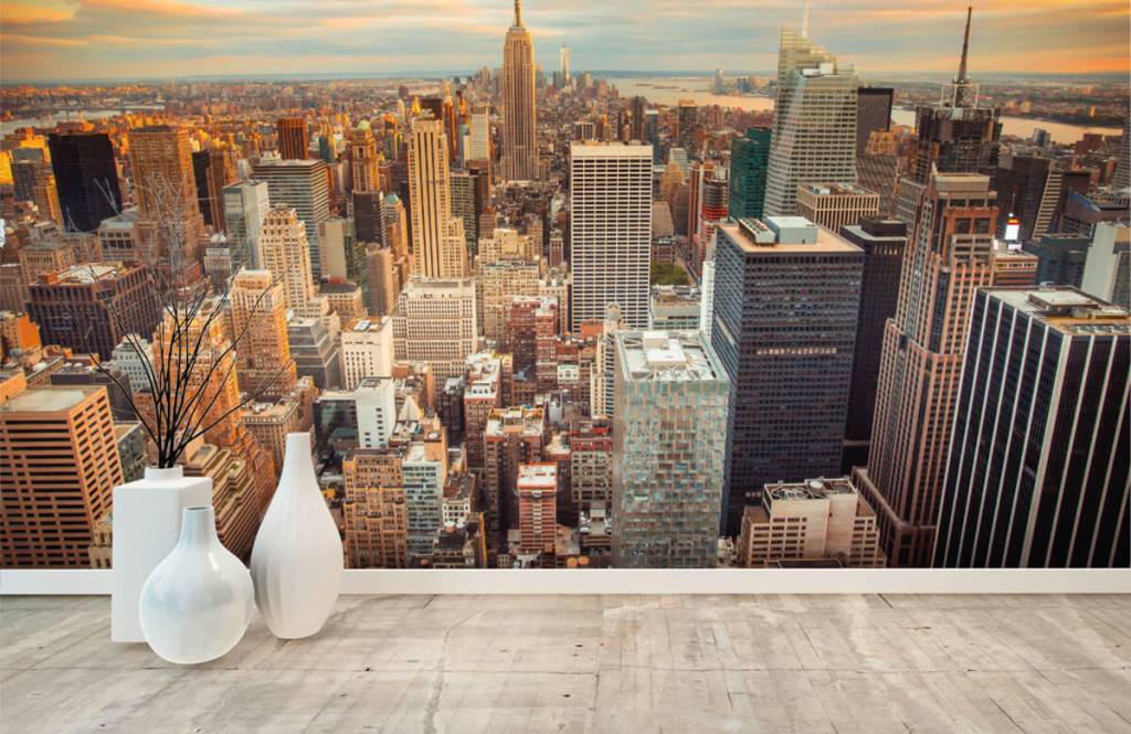 Steden behang - Manhattan - Tienerkamer 8