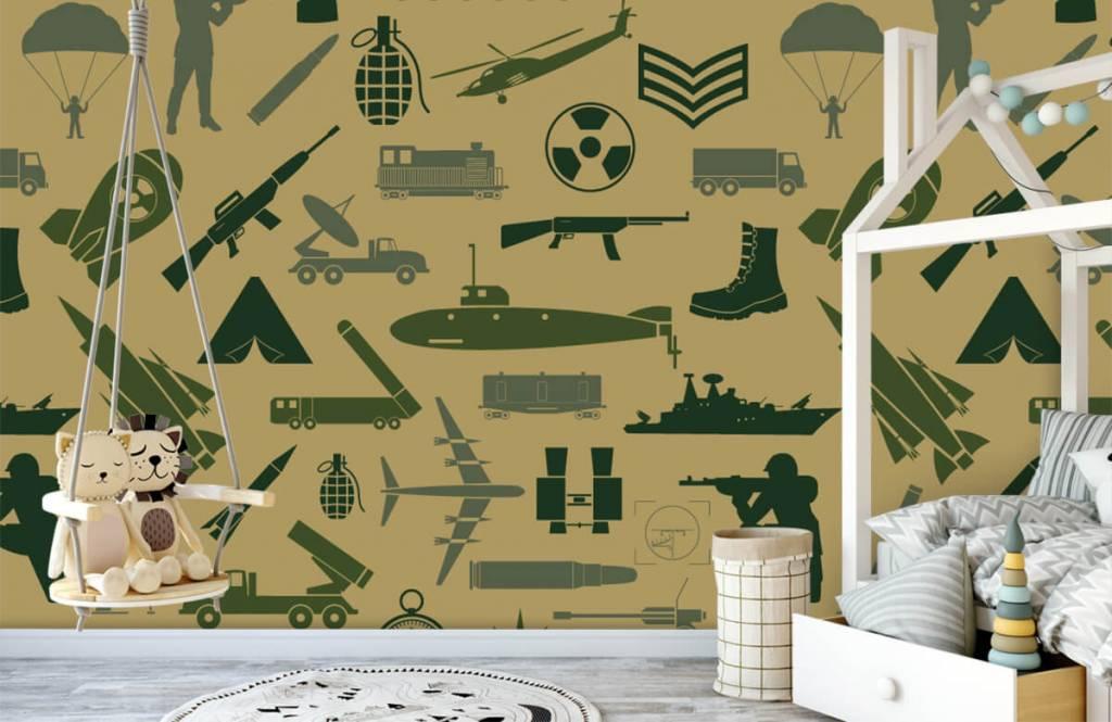 Overige - Militaire illustraties - Kinderkamer 3