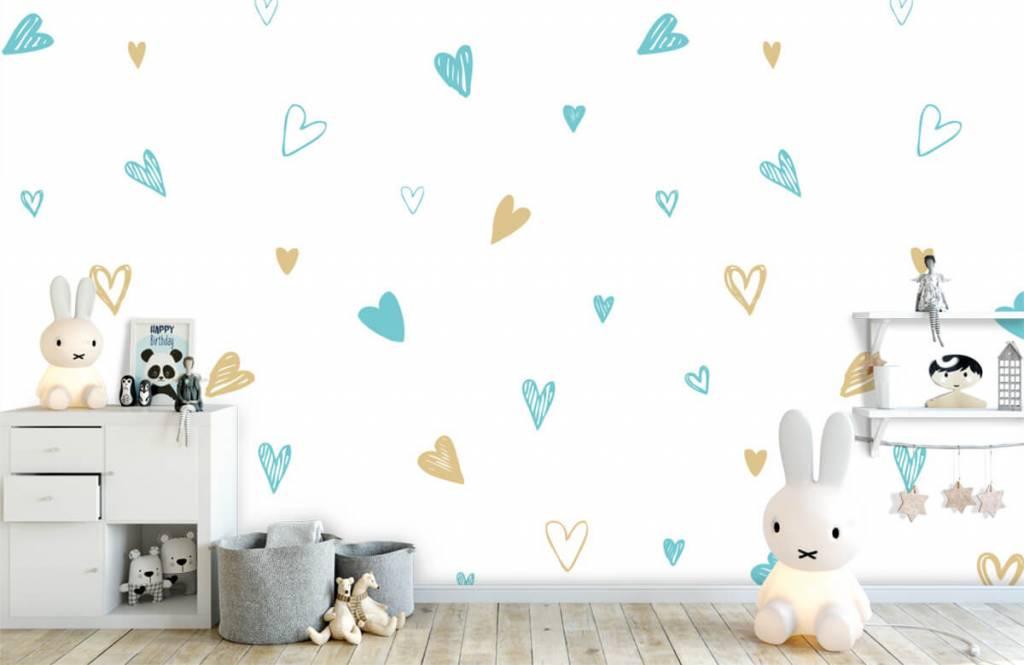 Overige - Mint en gouden hartjes - Kinderkamer 1