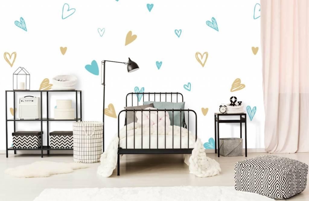 Overige - Mint en gouden hartjes - Kinderkamer 2