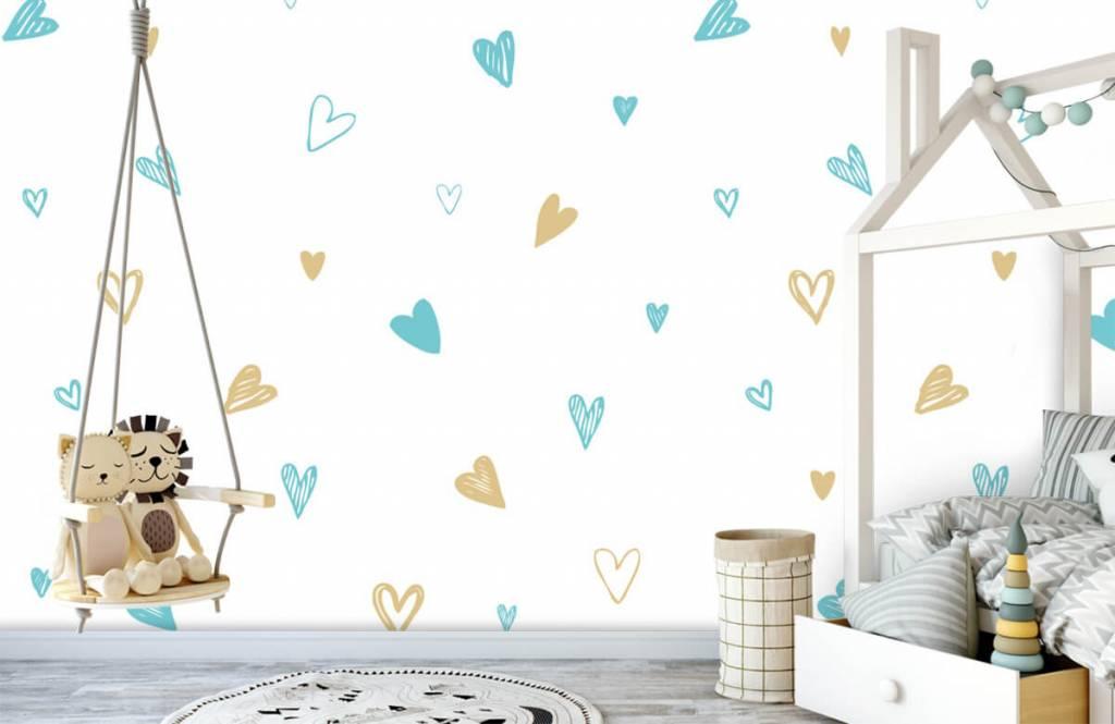Overige - Mint en gouden hartjes - Kinderkamer 4