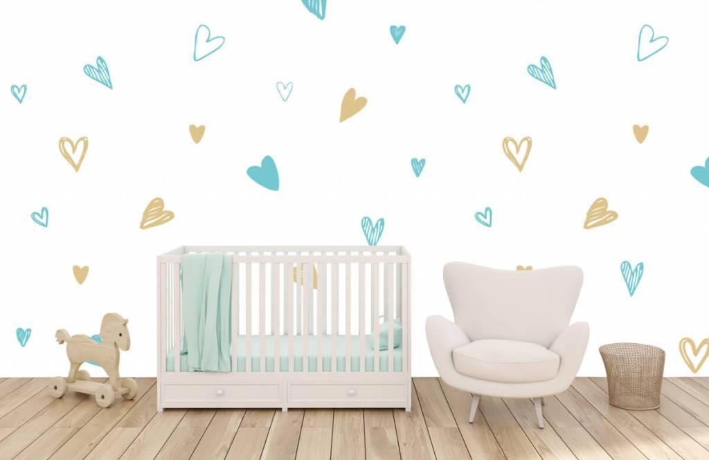 Overige - Mint en gouden hartjes - Kinderkamer 5
