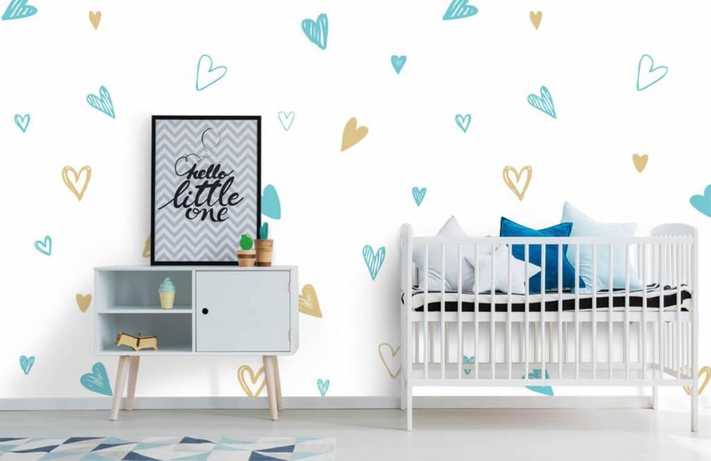 Overige - Mint en gouden hartjes - Kinderkamer 6