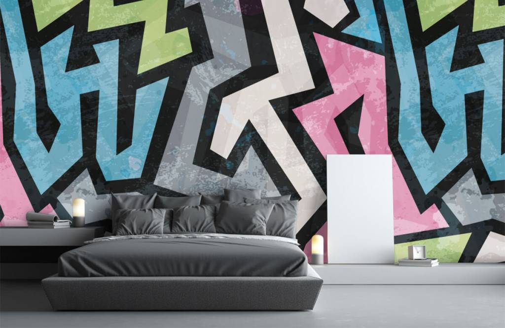 Graffiti - Moderne graffiti - Tienerkamer 3