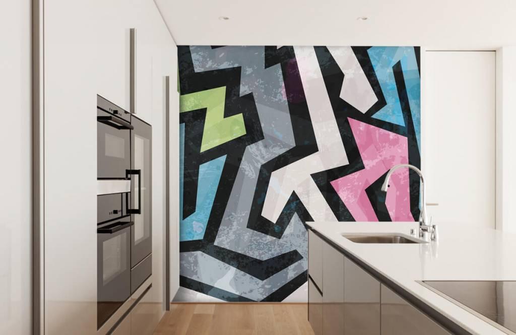 Graffiti - Moderne graffiti - Tienerkamer 4
