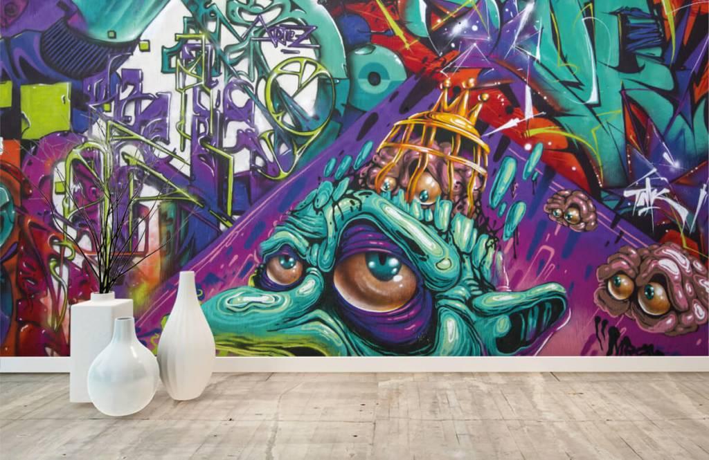 Graffiti - Moderne graffiti - Tienerkamer 5