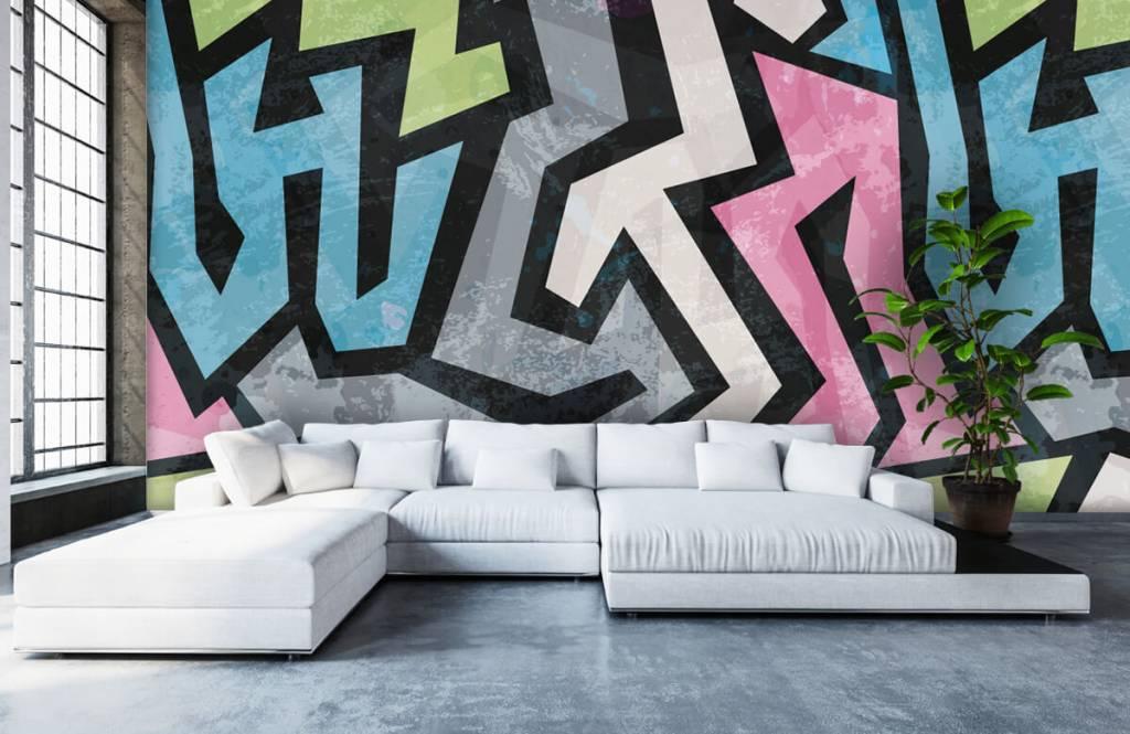 Graffiti - Moderne graffiti - Tienerkamer 6