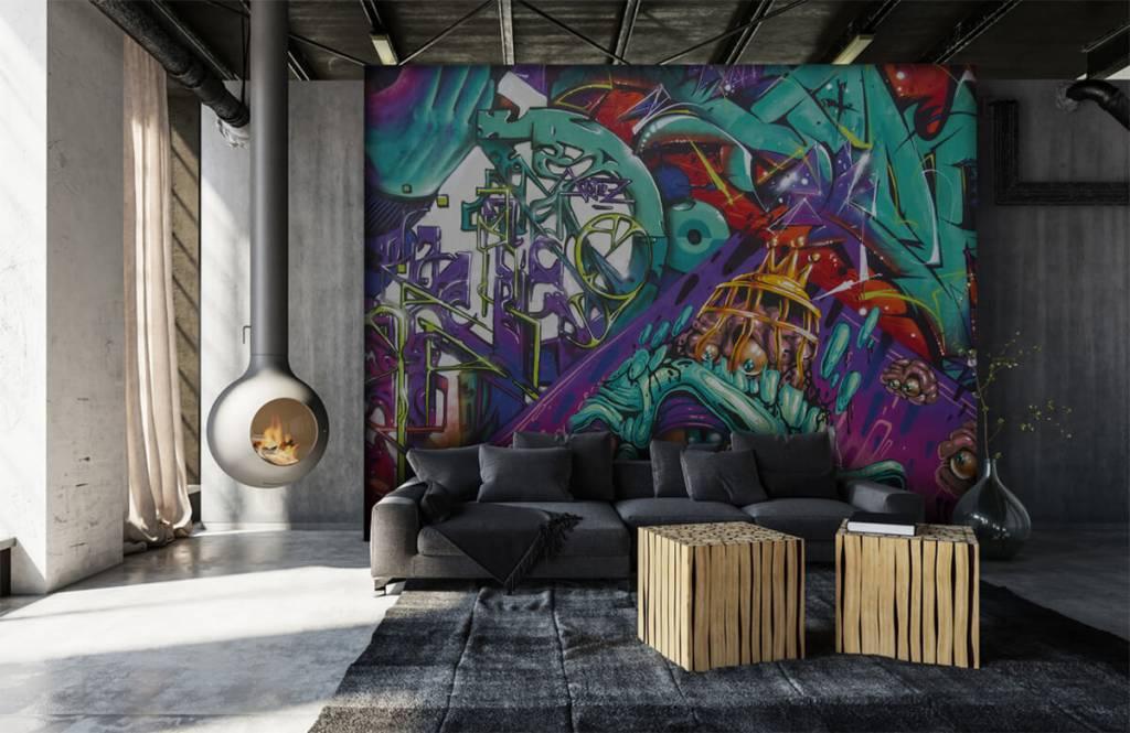 Graffiti - Moderne graffiti - Tienerkamer 7