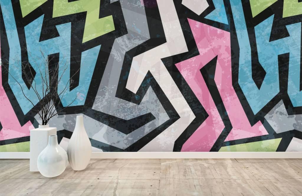 Graffiti - Moderne graffiti - Tienerkamer 8