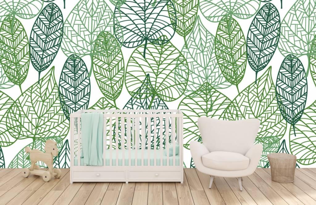 Bladeren - Opengewerkte groene bladeren - Hobbykamer 1