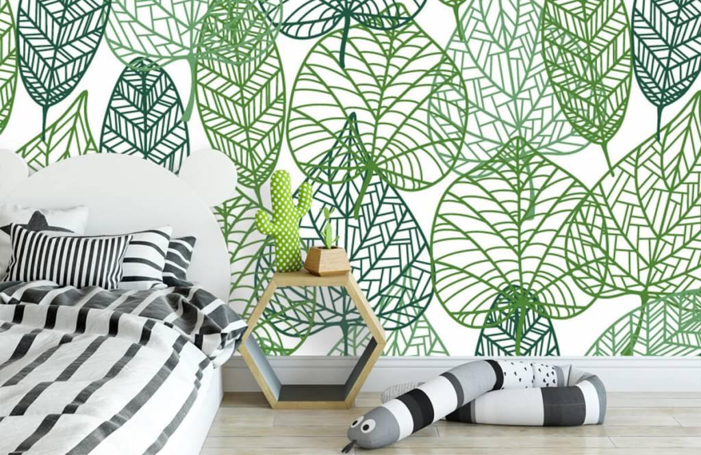 Bladeren - Opengewerkte groene bladeren - Hobbykamer 3