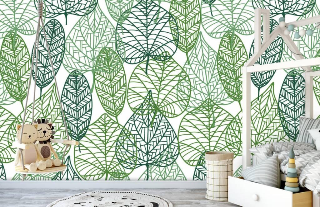 Bladeren - Opengewerkte groene bladeren - Hobbykamer 4