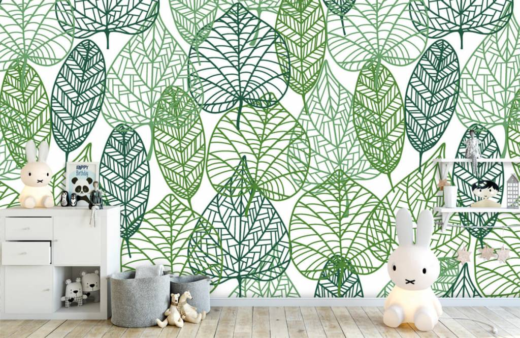 Bladeren - Opengewerkte groene bladeren - Hobbykamer 5