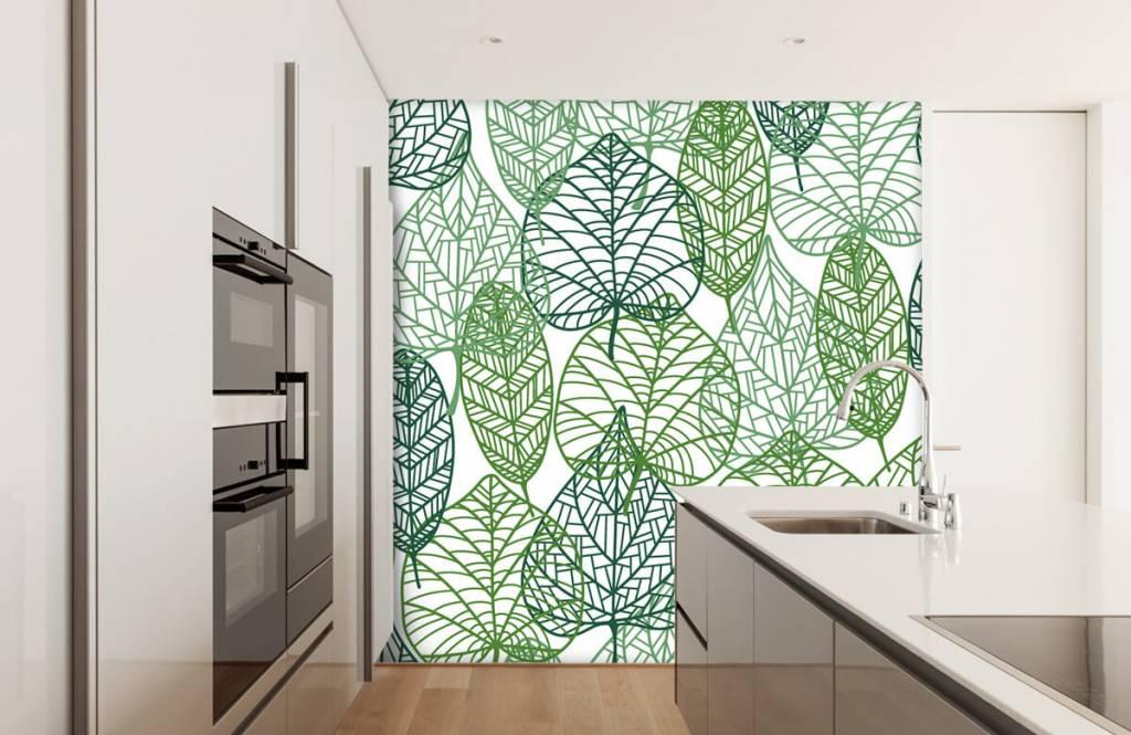 Bladeren - Opengewerkte groene bladeren - Hobbykamer 6