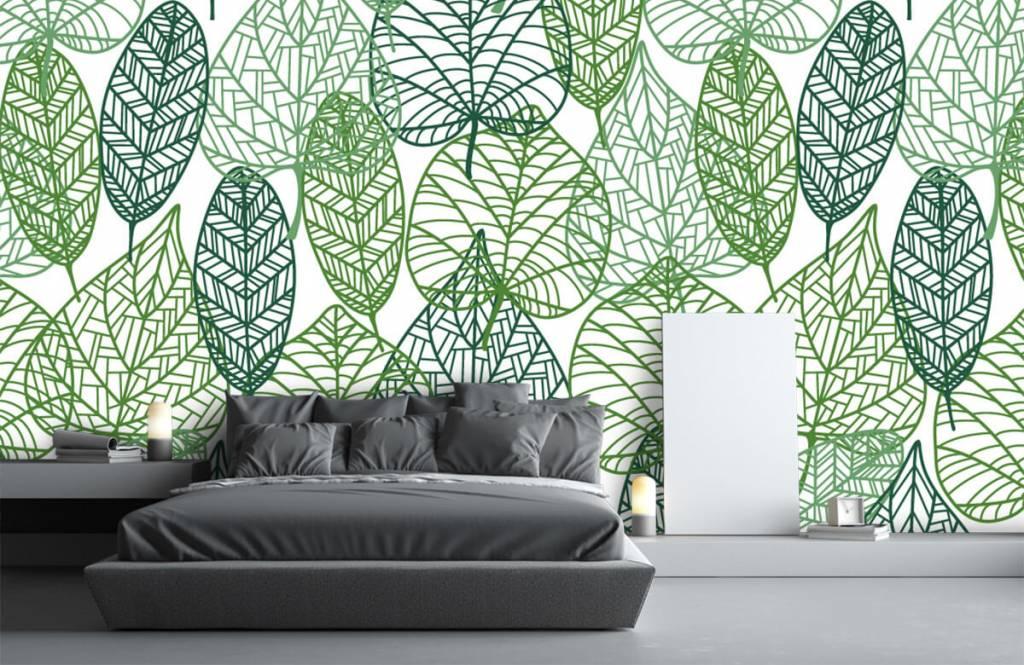 Bladeren - Opengewerkte groene bladeren - Hobbykamer 7
