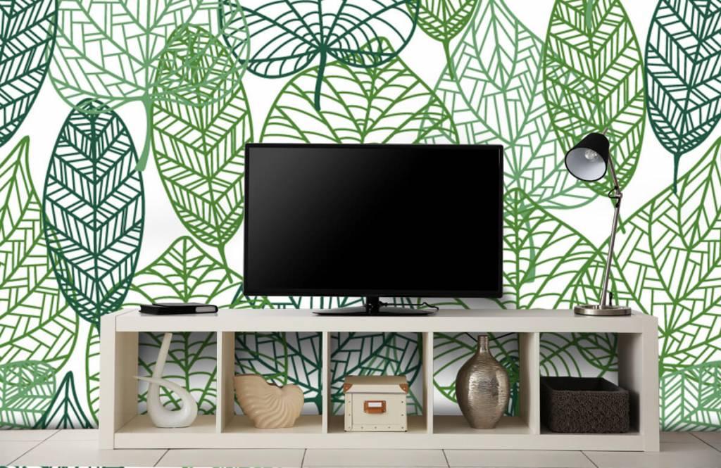 Bladeren - Opengewerkte groene bladeren - Hobbykamer 8