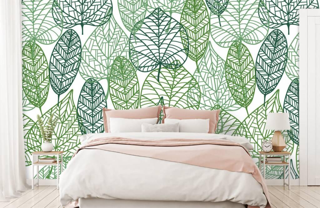 Bladeren - Opengewerkte groene bladeren - Hobbykamer 9