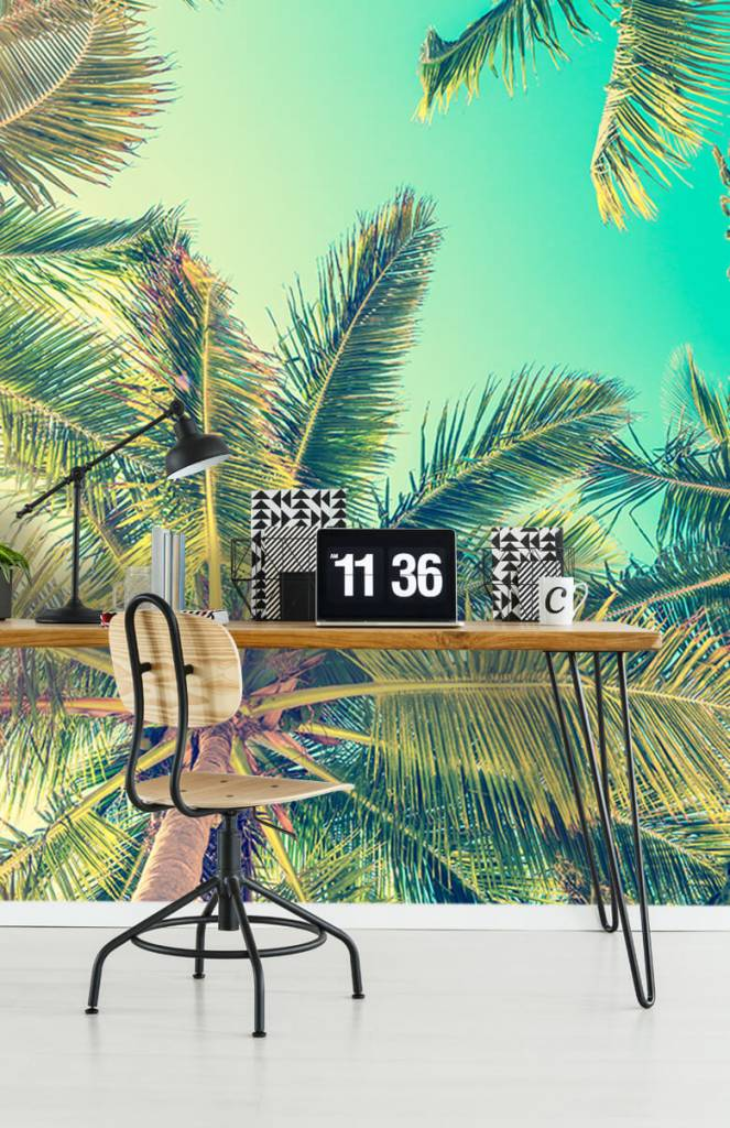 Palmbomen - Behang met palmbomen - Slaapkamer 1