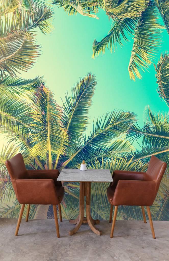 Palmbomen - Behang met palmbomen - Slaapkamer 3