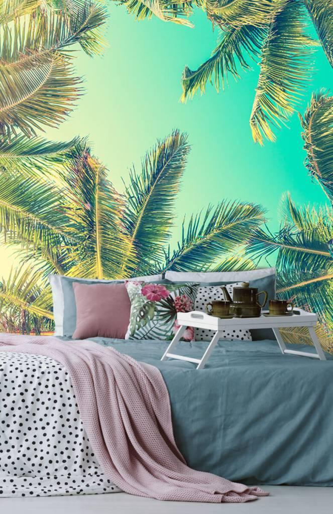 Palmbomen - Behang met palmbomen - Slaapkamer 4