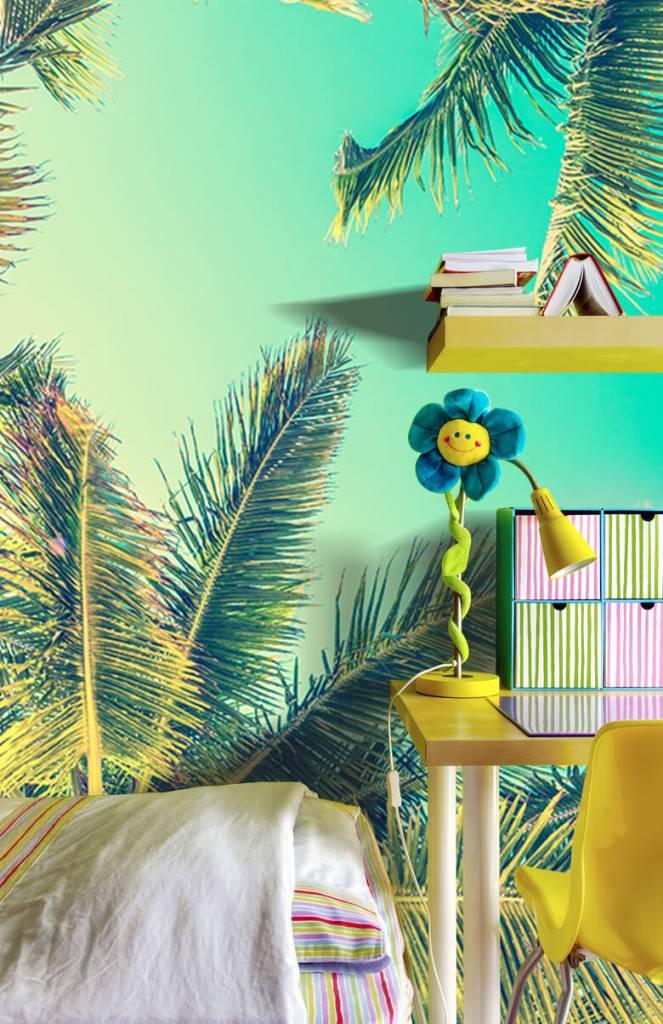 Palmbomen - Behang met palmbomen - Slaapkamer 6