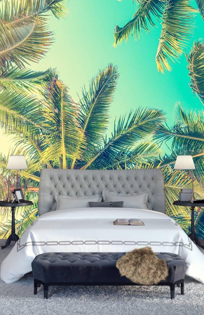 Palmbomen - Behang met palmbomen - Slaapkamer 7