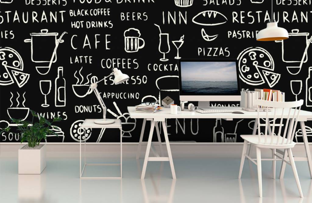 Tekst behang - Restaurant teksten - Keuken 1