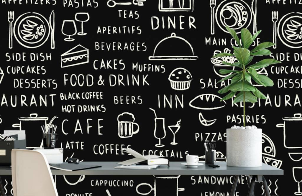Tekst behang - Restaurant teksten - Keuken 2