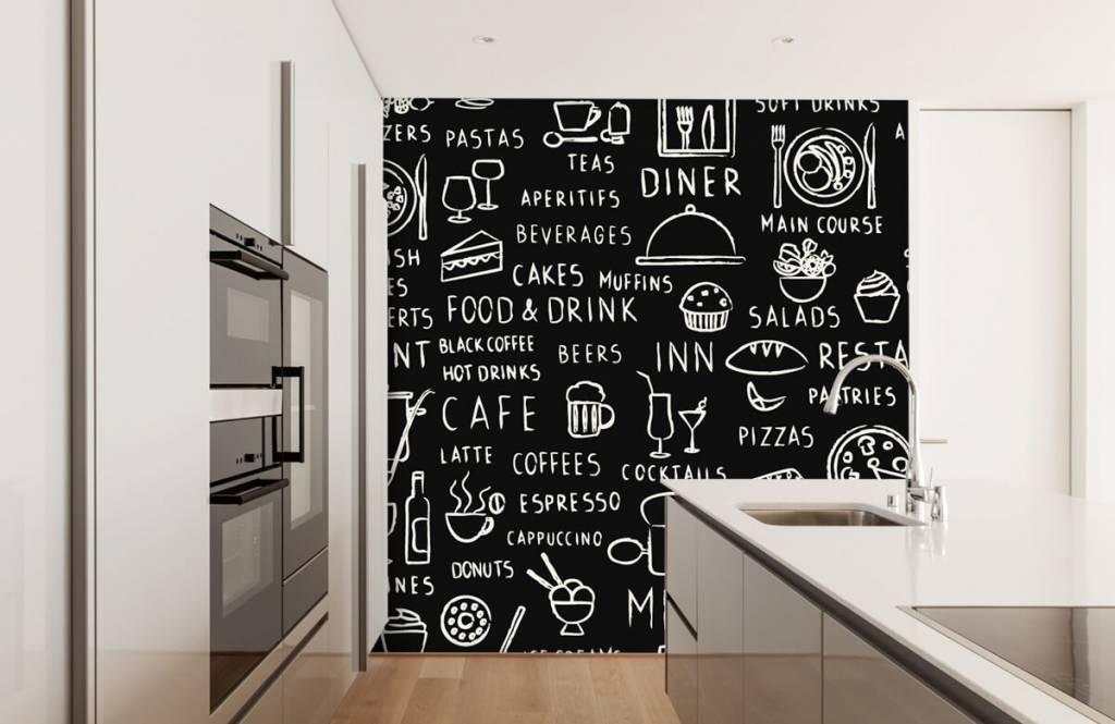Tekst behang - Restaurant teksten - Keuken 4