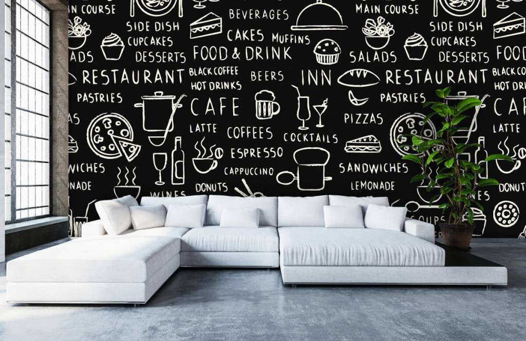 Tekst behang - Restaurant teksten - Keuken 5