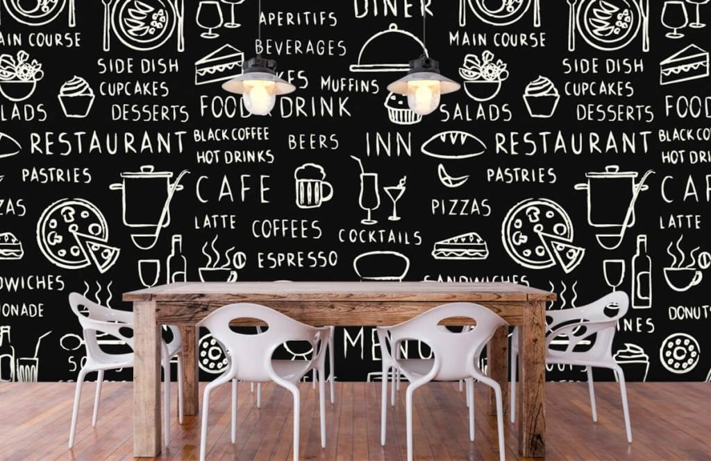 Tekst behang - Restaurant teksten - Keuken 6