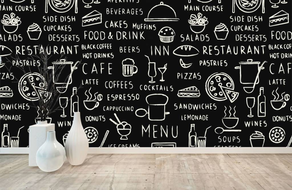 Tekst behang - Restaurant teksten - Keuken 7